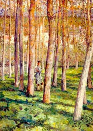 Emile-Boggio-Le bois-1918-Huile-sur-toile-Caracas-Galeria-Arte-Nacional