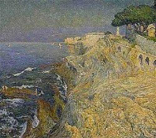 Emile-Boggio-Mer-a-Nervi-1909-Huile-sur-toile-collection-prive