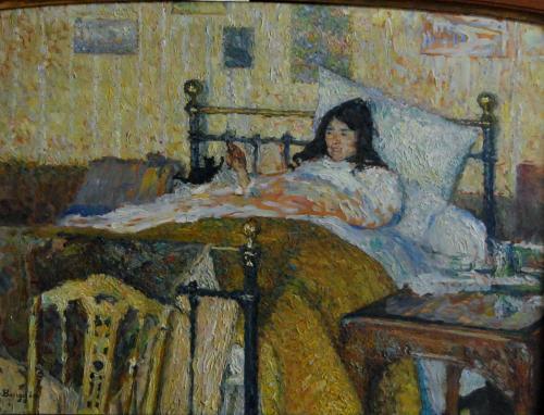 Emile-Boggio-146 la convalescente 1911 46x60