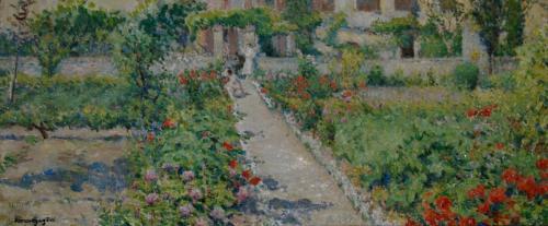 Emile-Boggio-285 une allee de jardin 34x80