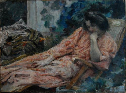 Emile-Boggio-335 femme en rose 1894 48x63
