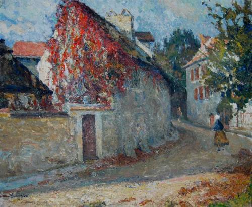 Emile-Boggio-392 la maison daubigny 50x61