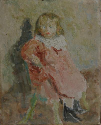 Emile-Boggio-431 etude de petite fille 1916 41x33