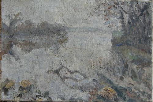 Emile-Boggio-556 broillard sur l'oise 1916 21x32