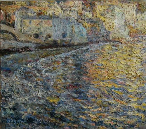 Emile-Boggio-61 soir dore 1909 52x60