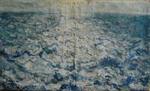 Emile-Boggio-683 en pleine mer voage au venezuela 1919 30x50