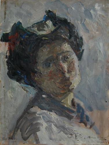 Emile-Boggio-726 etude tete de femme 1908 25x26